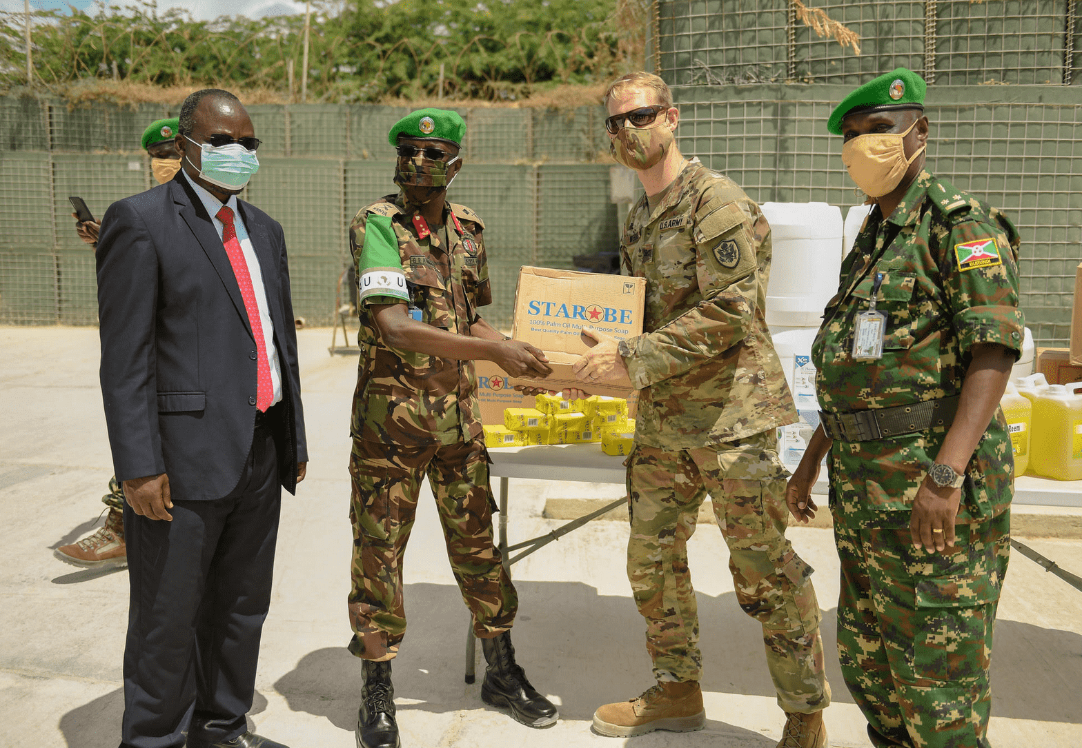 US Army donates an assortment of COVID-19 supplies to AMISOM