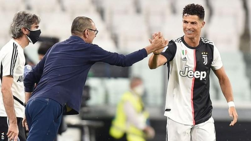 Ronaldo double takes Juve close to title