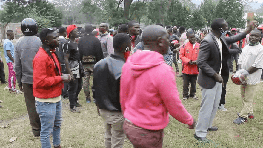 Boda boda operators storm the RDC's office, over police brutality