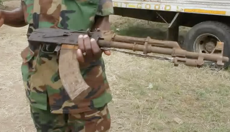Farmers find an AK47 rifle in Kasese
