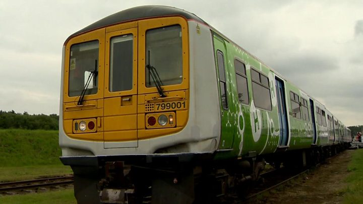On board the UK's first hydrogen train